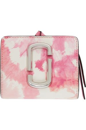 Marc Jacobs Pink & White Mini 'The Snapshot' Compact Wallet