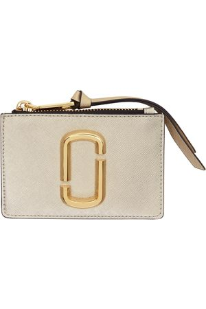 Marc Jacobs Silver & Gold 'The Snapshot' Top-Zip Card Holder