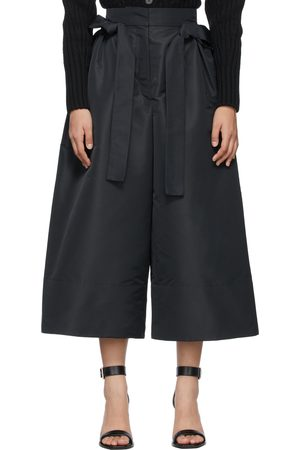 Alexander McQueen Black Exploded Ribbon Tie Culotte Trousers