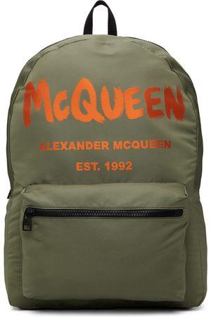 Alexander McQueen Khaki & Orange Graffiti Metropolitan Backpack