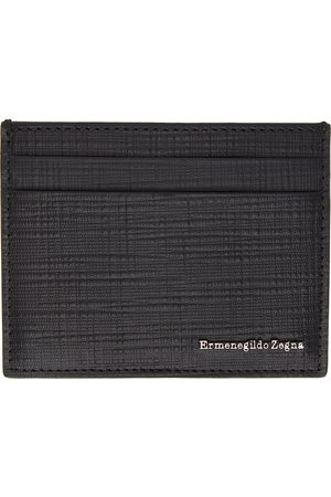 Ermenegildo Zegna Black Stuoia Card Holder