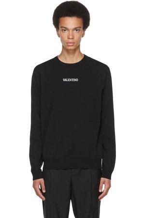 VALENTINO Black Intarsia Logo Sweater