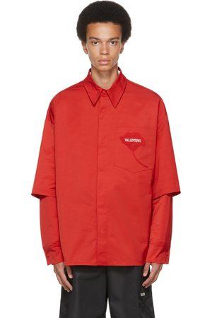 VALENTINO Red & White Layered Garden Shirt