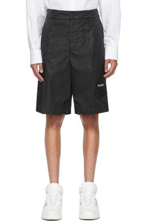 VALENTINO Black Nylon Garden Bermuda Shorts