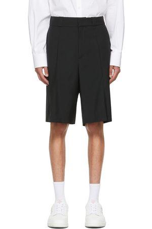 VALENTINO Black Mohair Bermuda Shorts