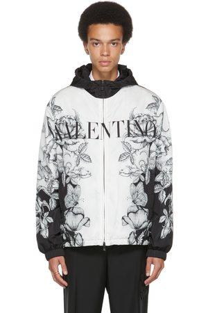 VALENTINO Black & White Dark Blooming Jacket