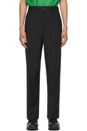 VALENTINO Black Mohair Drawstring Trousers