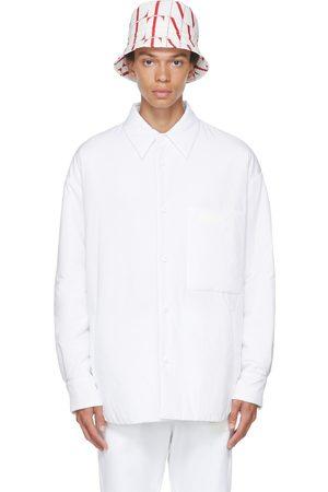 VALENTINO Men Shirts - White Padded Cotton Poplin Shirt