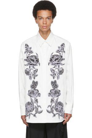 VALENTINO White & Black Dark Blooming Shirt