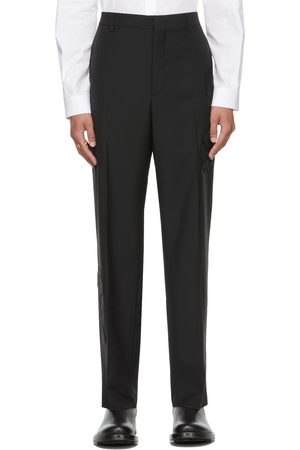 VALENTINO Black Mohair & Wool Trousers