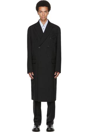 VALENTINO Black Wool Garden Coat