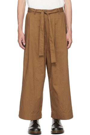 Naked & Famous Denim SSENSE Exclusive Brown Wide Pants