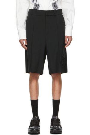 VALENTINO Black Mohair Garden Bermuda Shorts