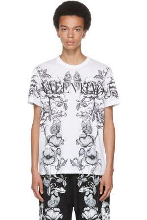 VALENTINO White Dark Blooming Logo T-Shirt
