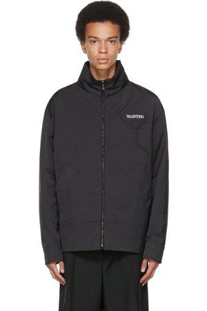 VALENTINO Black & White Satin Garden Jacket