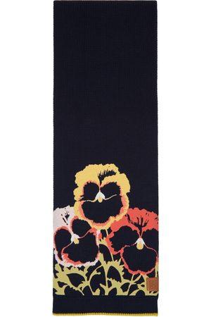 Loewe Black & Multicolor Pansies Scarf