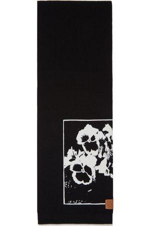 Loewe Black Pansies Scarf