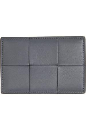 Bottega Veneta Grey Intrecciato Credit Card Holder