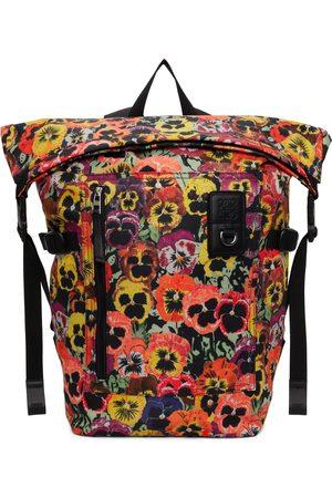 Loewe Multicolor Pansies Roll Top Backpack