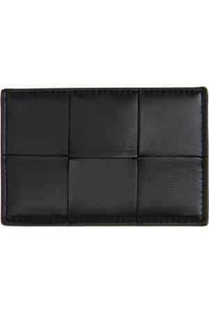 Bottega Veneta Black Intrecciato Credit Card Holder