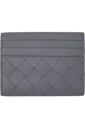Bottega Veneta Men Wallets - Grey Intrecciato Credit Card Holder