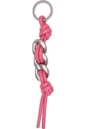 Bottega Veneta Pink Curb Chain Keychain