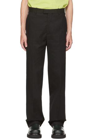 Bottega Veneta Black Midseason Gabardine Trousers