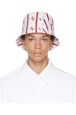 VALENTINO GARAVANI White & Red VLTN Times Bucket Hat