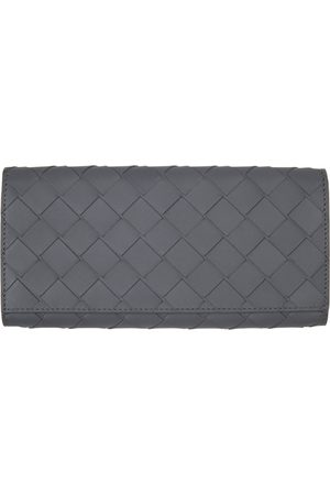 Bottega Veneta Grey Intrecciato Long Wallet