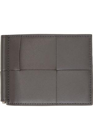 Bottega Veneta Grey Intrecciato Bill Clip Bifold Wallet