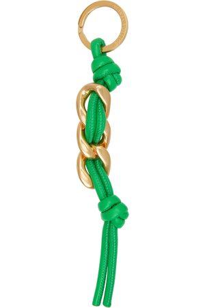 Bottega Veneta Green Curb Chain Keychain