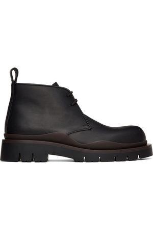 Bottega Veneta Black & Brown Tire Desert Boots