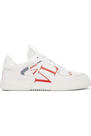 VALENTINO GARAVANI White & Red 'VL7N' Low Sneakers