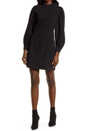 VERO MODA Women's Marlie Long Sleeve Organic Cotton Denim Dress