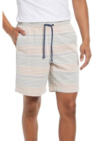 L.L.BEAN Men's L.l. Bean Men's Stripe Organic Cotton Dock Shorts
