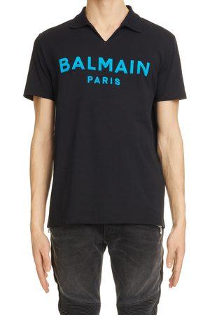 Balmain Men's Flock Logo Polo