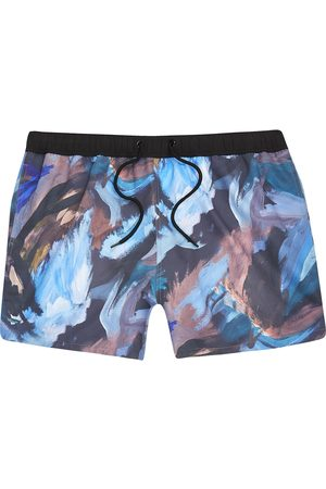 River Island Men's Abstract Print Swim Trunks