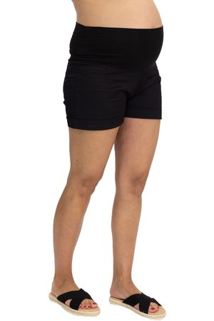Angel Maternity Women's Over The Belly Maternity Shorts