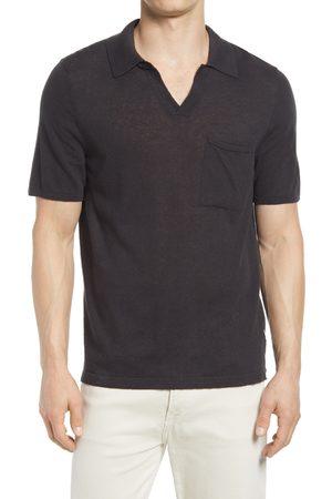NN.07 Men's Ryan 6311 Johnny Collar Pocket Cotton & Linen Polo