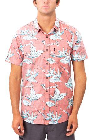 Rip Curl Men's Hawaii Floral Print Short Sleeve Button-Up Shirt