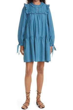 SEA Women's Adrienne Puff Sleeve Tunic Dress