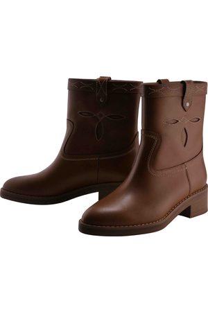 Céline Camargue Western leather ankle boots