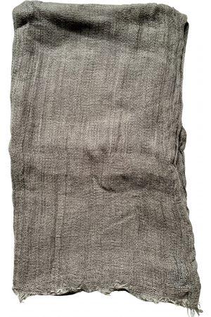 Dolce & Gabbana Grey Linen Scarves & Pocket Squares