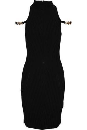 VERSACE Women Knitted Dresses - Medusa ribbed knit dress