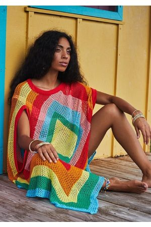 Pitusa Rainbow Crochet Coverup