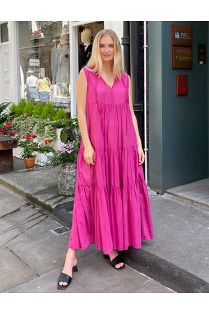 Kori Women Sleeveless Dresses - Cotton Silk Sleeveless Dress