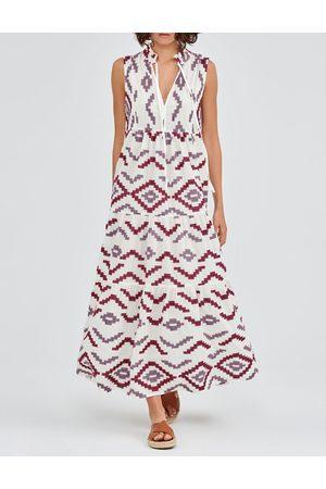 Kori Rombus Sleeveless Dress and Burgundy