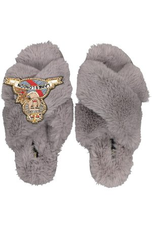 Laines London Womens Laines Of London Luxe Queen Grey Slippers
