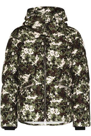 Moncler Camouflage Logo Print Down Jacket