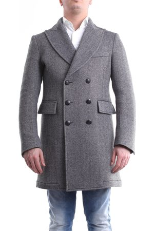 Messagerie Men Coats - Coat in and white color